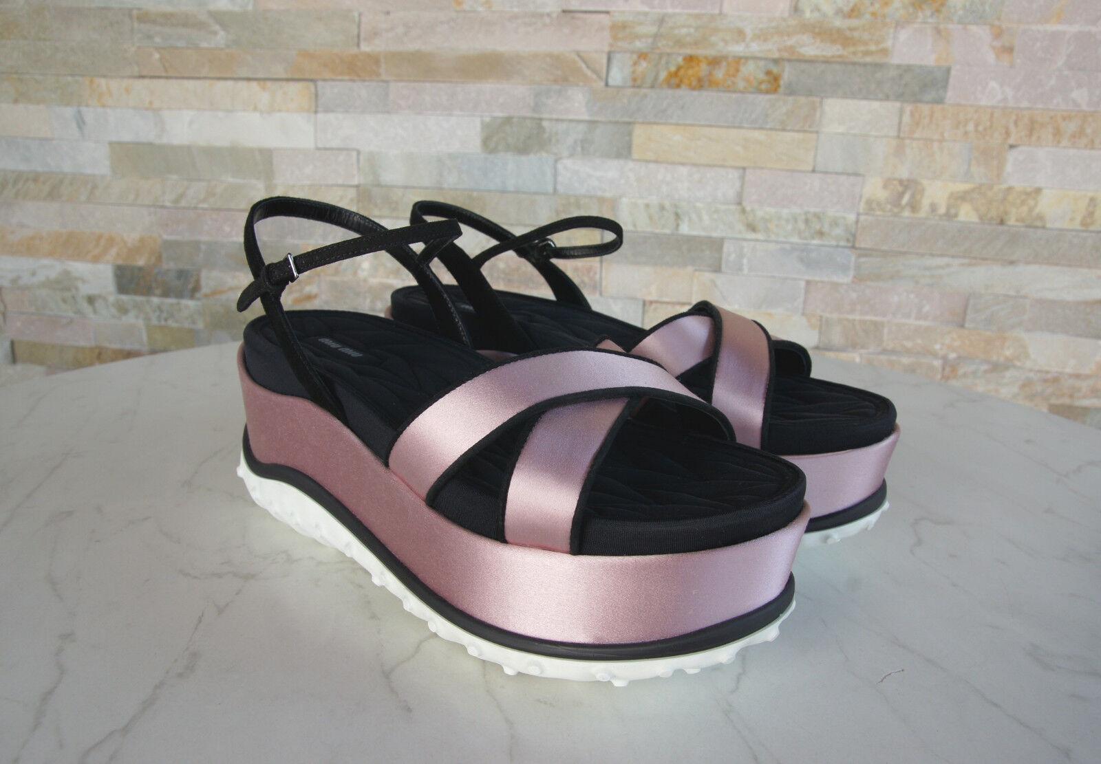 Miu Miu talla 37,5 plataforma sandalias zapatos de cuña zapatos sandalias lirio de los valles nuevo ex. PVP 04da03