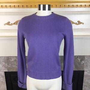 LAUREN-Ralph-Lauren-Womens-PP-Purple-Long-Sleeve-Cashmere-Sweater