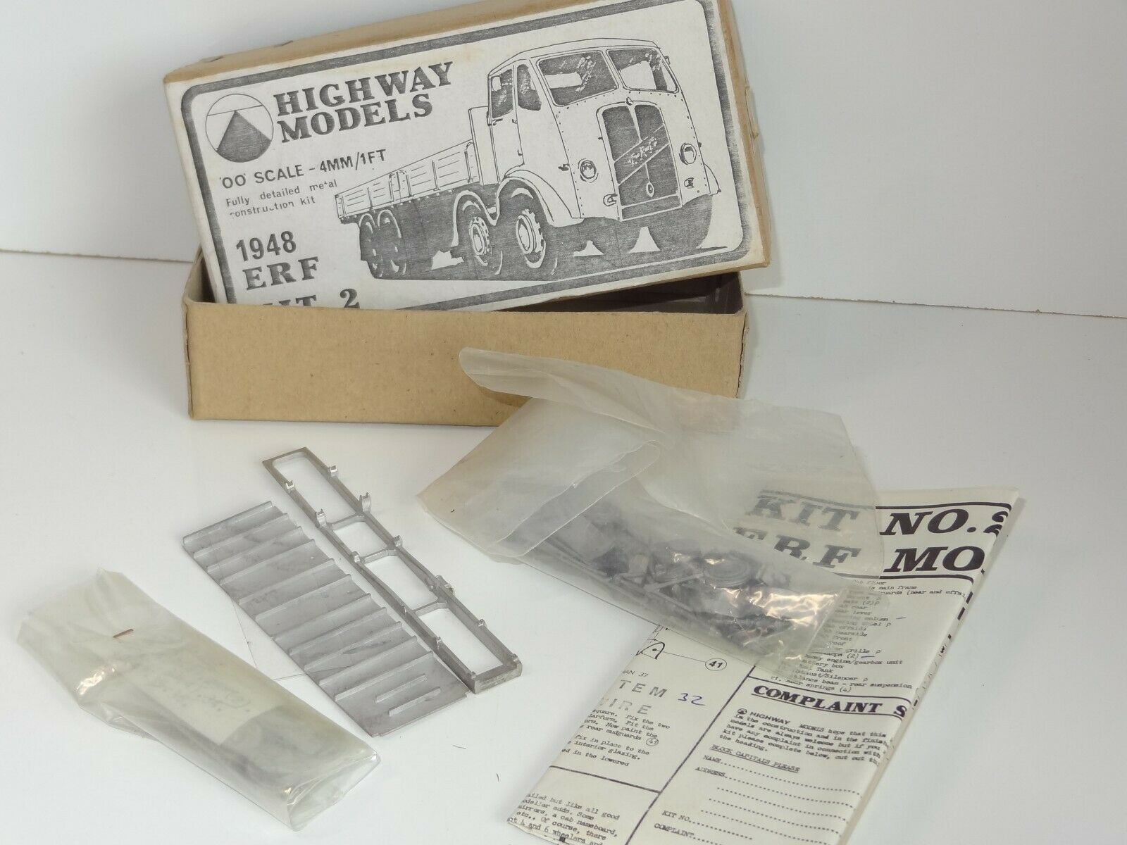 Highway blanc Metal Kit 1948 ERF 2 Kit (209)