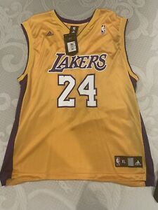 Details about NEW - Los Angeles Lakers Kobe Bryant Adidas Gold Jersey #24 (XL) FREE SHIPPING