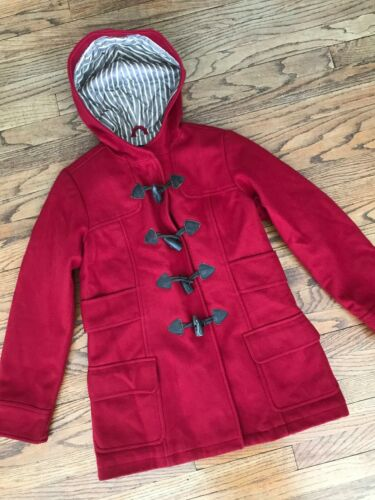 American Eagle Red Wool Toggle Button Duffle Duff… - image 1