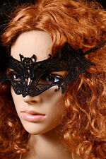 Women Ladies Black Lace Bat Mask Costume Party Holiday Dance Eye Dress Accessory