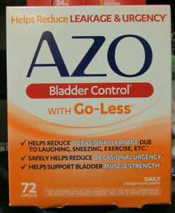 AZO Bladder Control 72 Capsules NEW Exp 8/21