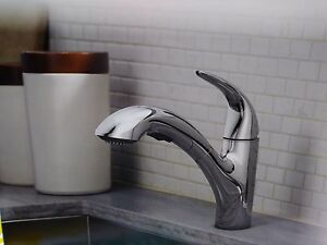 Image Is Loading Moen Medina Chrome One Handle High Arc Pullout