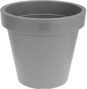 Grey Large Plant Pots Tall Round