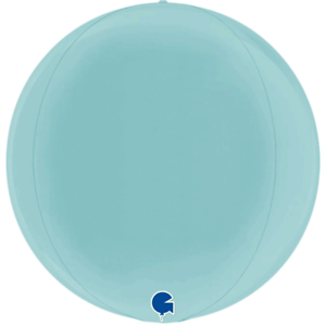 "Grabo Pastel Blue Globe Shaped Circular 4D Orbz 15/"" Foil Balloon Decoration"