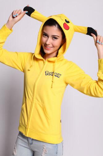Pokemon Pikachu Costume Hoodie Sweater Sweatshirt Jacket for Halloween Cosplay