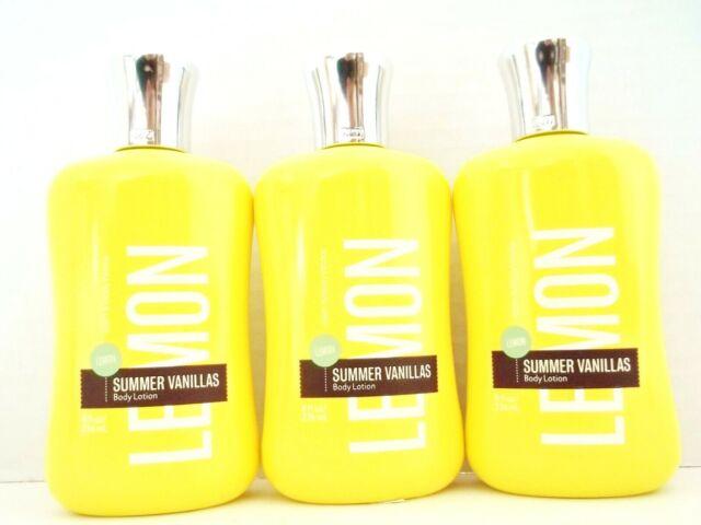 Bath Body Works Signature Vanillas LEMON Body Lotion 8 oz/236 mL, NEW x 3