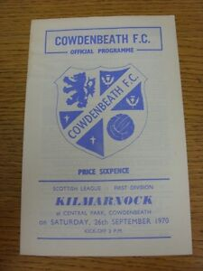 26091970 Cowdenbeath v Kilmarnock  Stained - Birmingham, United Kingdom - Returns accepted within 30 days after the item is delivered, if goods not as described. Buyer assumes responibilty for return proof of postage and costs. Most purchases from business sellers are protected by the Consumer Contr - Birmingham, United Kingdom