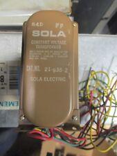 Sola Cat 21 936 2 Constant Voltage Regulator T1507 New