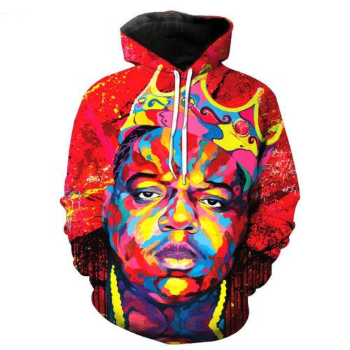 Women//Men Notorious B.I.G Tie-dye 3D Print Casual Hoodie Sweatshirt Pullover H34