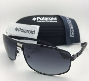 8639d8cd9bf New POLAROID Sunglasses X4412 E 003 WJ 63-13 Black Frames w  Grey ...