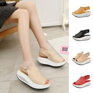 Women-Lady-Summer-Shake-Sandals-Open-Toe-Sport-Beach-Shoes-Thick-Bottom-Platform