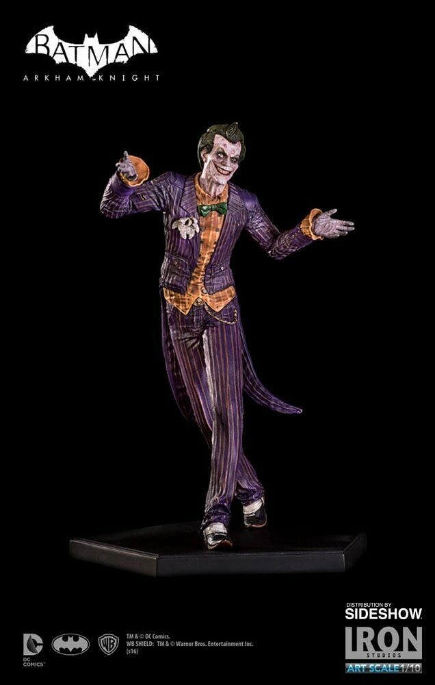JOKER DC Batman  Arkham Knight Sideshow-Iron Studios 1 10 Statue_US DEALER_NRFB