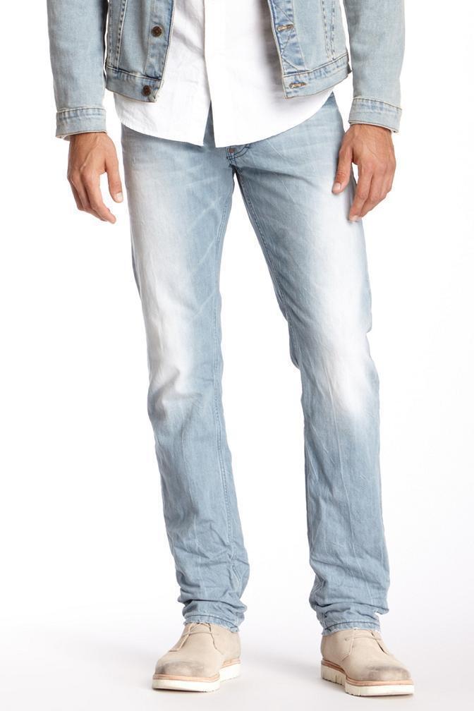 Gilded Age Baxten Herren Schmal Gerade Jeans Hergestellt in Italien Candiani