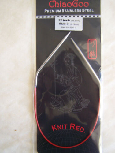 "ChiaoGoo Red Circular Knitting Needles 12/"" choice//size"