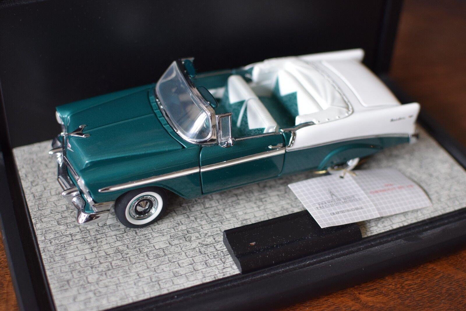Franklin Mint 1:24 Precision Models 1957 CHEVY BELAIR Convertible w/ Case