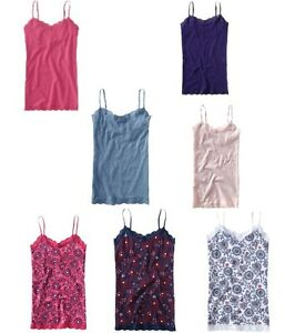 89d61d8fe2 NWT AEROPOSTALE LACE CAMI WITH SHELF BRA SOLIDS AND PRINTS PRETTY