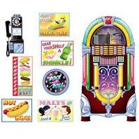 Soda Shop Signs & Jukebox Props