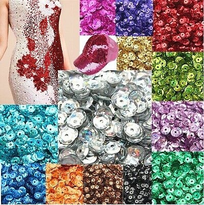 NEW DIY 4mm Faceted Round Loose Shiny Sequins Paillettes Sewing Wedding Craft