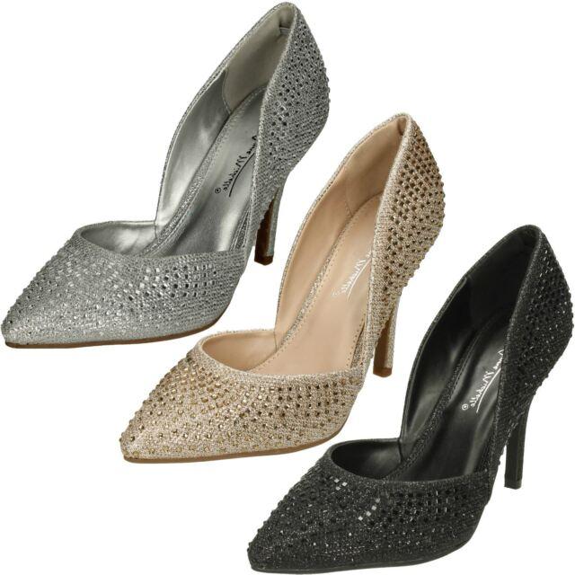 Anne Michelle F10471 High Heel Strappy Fringed  Evening Sandals