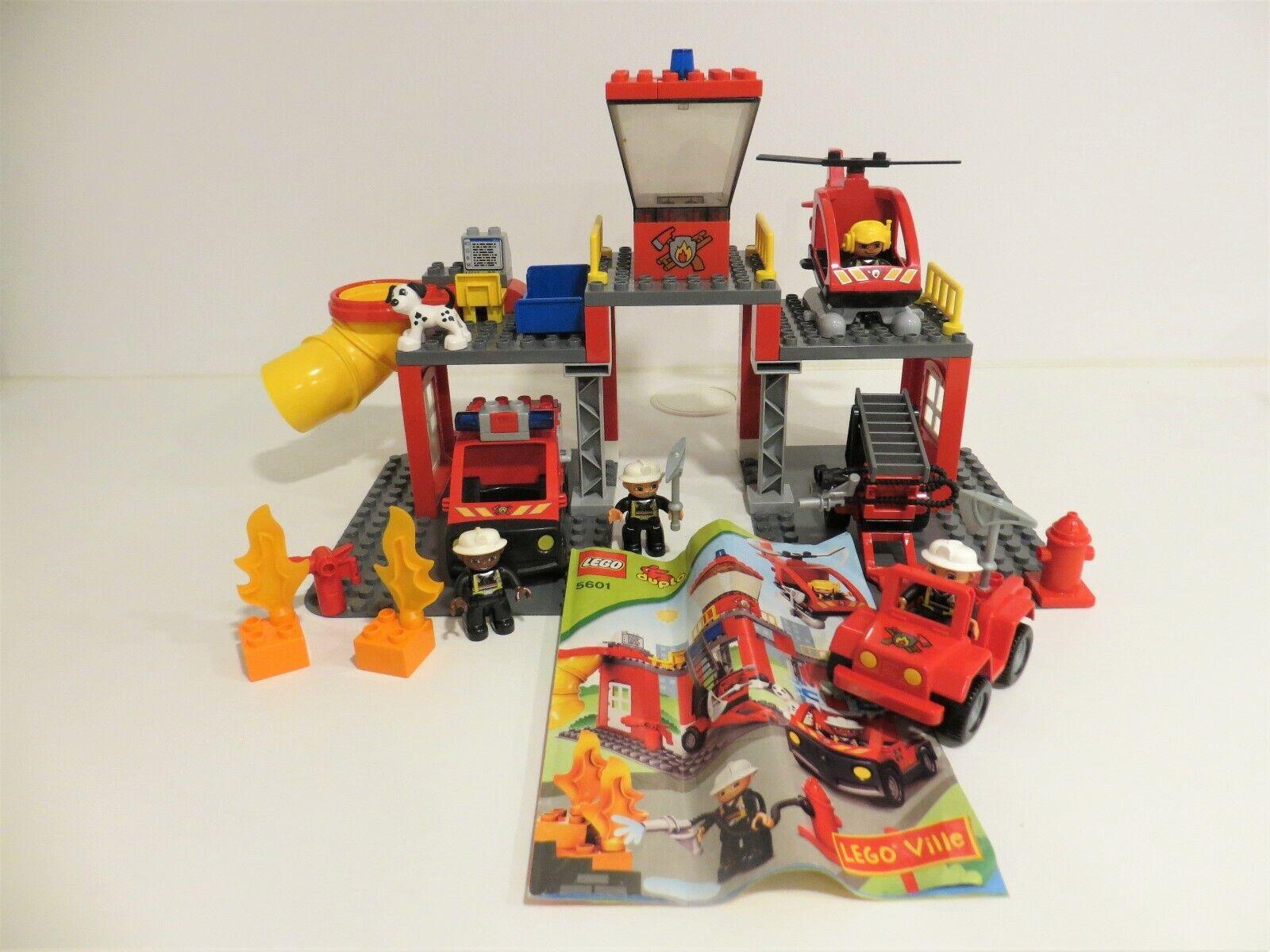 Lego Duplo  vollständiges Set 5601 Feuerwehrstation mit OVP  BA + 6169 Hauptmann