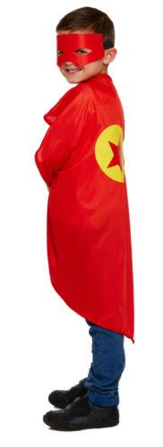 Superhero Costume Enfants Garçons Filles Déguisement Halloween Cape /& Masque parti