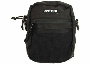 Image Is Loading New Supreme Small Shoulder Bag Black Ss17 Authentic