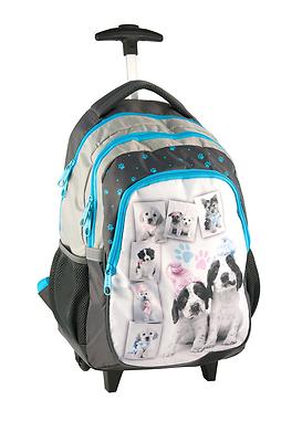 Koffer, Taschen & Accessoires Pilotenkoffer & Trolleys Ehrlich Rachael Hale Hund Hündchen Schultrolley Trolleyrucksack Ranzen Schulrucksack