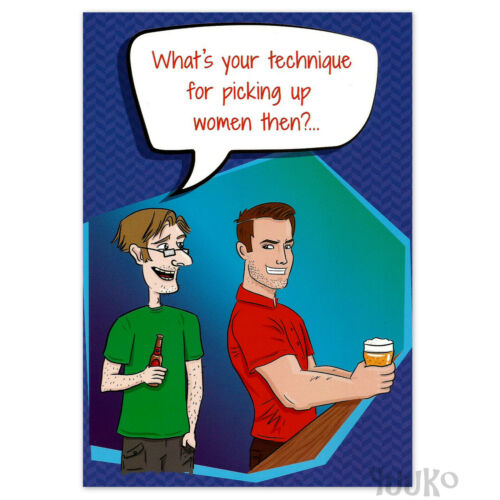 FUNNY BIRTHDAY CARD Rude Adult Humour for Men Male Picking Up Women