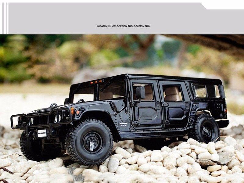 Escala 1 18 Diecast Maisto Negro Hummer H1 Aleación Sport Utility Vehicle Vehículo Coche de juguete