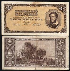 PENGO 1946 P134 UNCIRCULATED HUNGARY 1,000,000 B