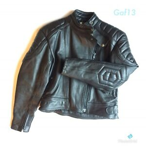 Black biker jacket size 20