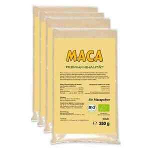MACA-PULVER-1kg-4-x-250-g-Beutel-aus-Peru-INKANATURA-Huayre-Junin-Peru