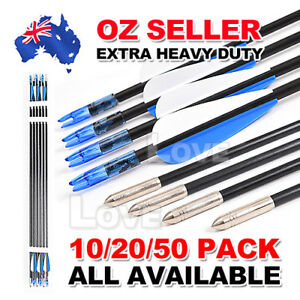 32-034-HEAVY-DUTY-FIBERGLASS-ALUMINUM-ARROWS-FOR-Archery-Hunting-Compound-Bow-HOT