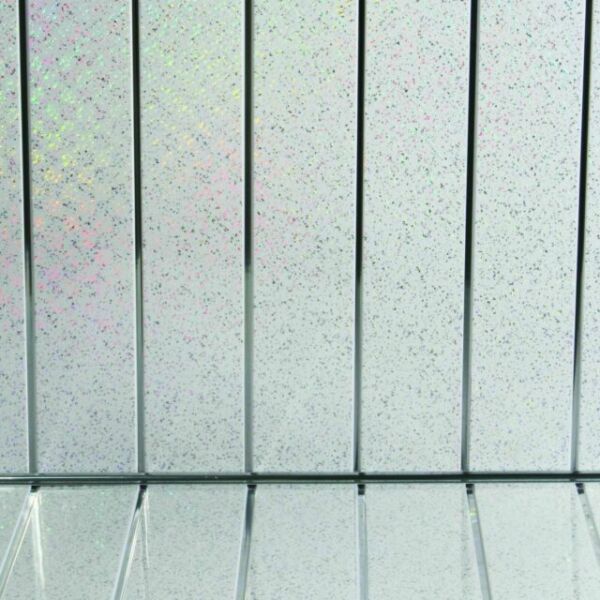 4 platinum white sparkle chrome pvc bathroom cladding