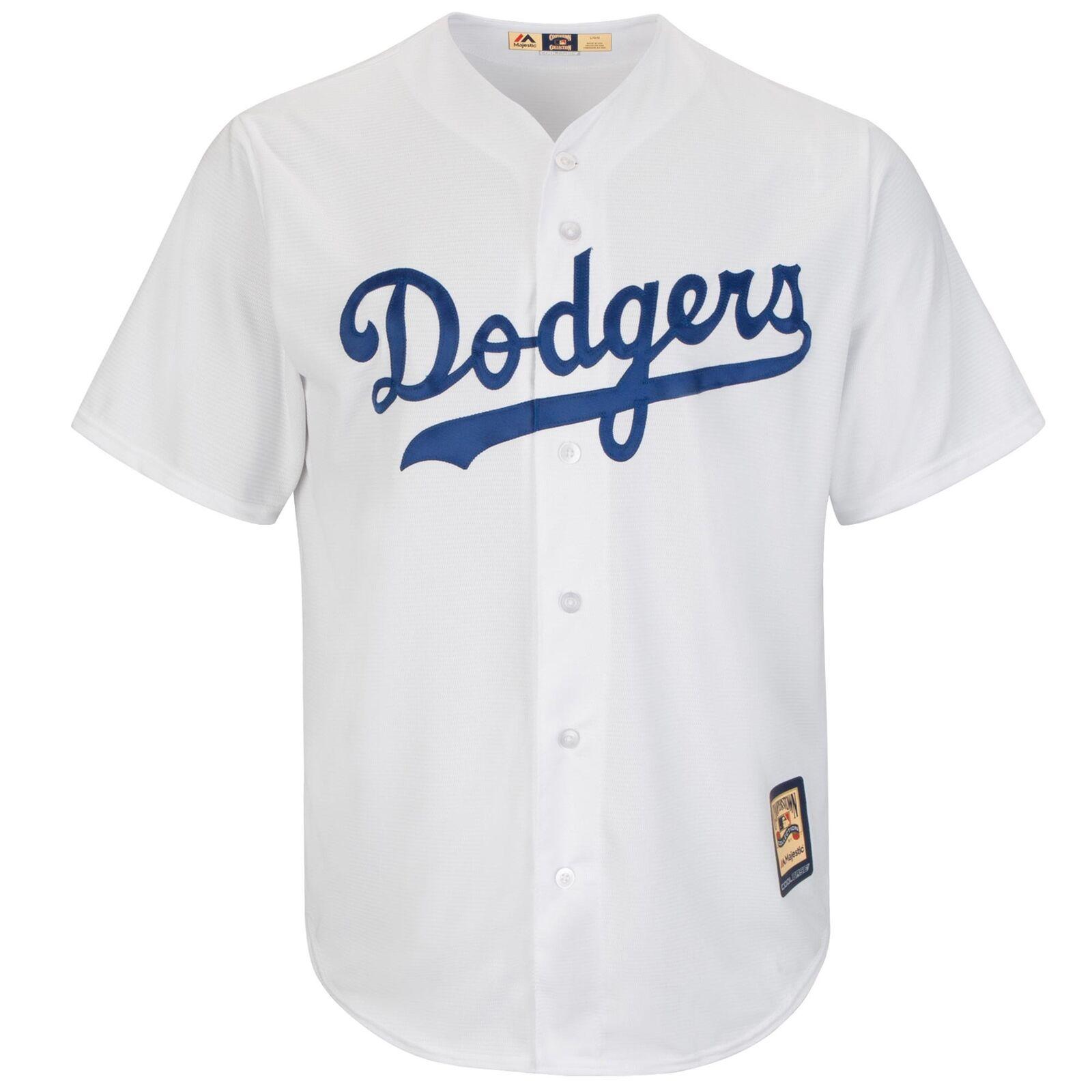 MLB Brooklyn Dodgers Majestic Cooperstown Cool Base Trikot Sport Shirt Herren