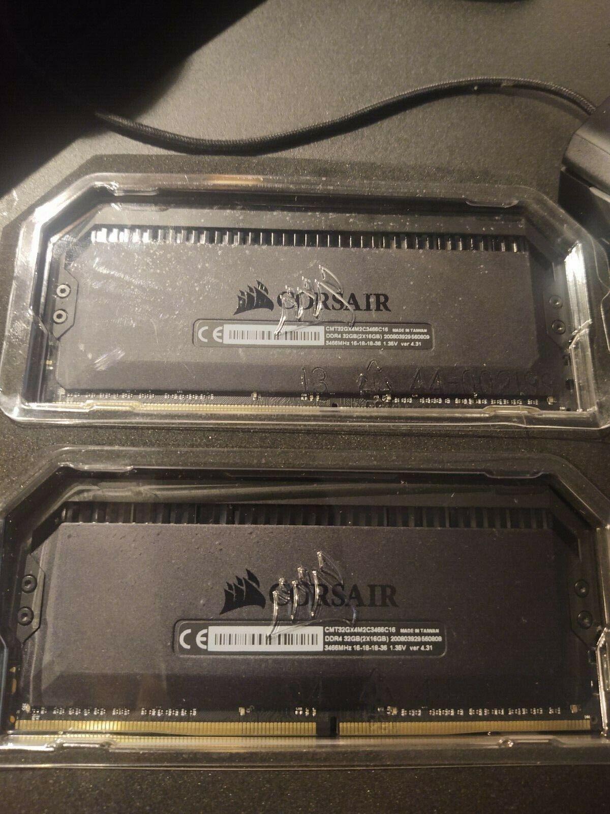 Corsair CMD32GX4M2C3200C16 Dominator Platinum 32GB (2x16GB) DDR4 RAM Memory Kit. Buy it now for 140.00