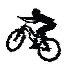 Female Mountain BIke Vinyl Decal Sticker Girl Biking Trail Biker Car Window Sign