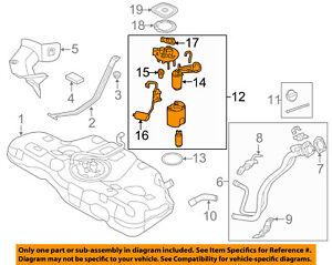 hyundai oem 14 16 elantra fuel pump 311103x500 ebay rh ebay com 2002 hyundai accent fuel pump wiring diagram hyundai sonata fuel pump schematic