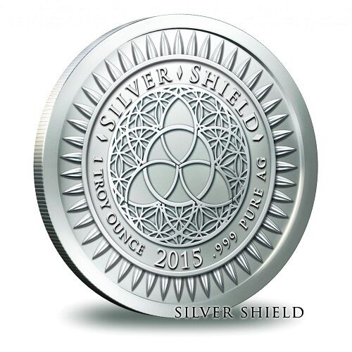 Legalize Nature 1 oz .999 Silver Shield Glamorous Cannabis Round Marijuana pot