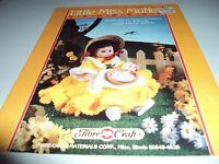 Fibre Craft Little Miss Muffet To Crochet Pattern Leaflet For 13 Bed Doll