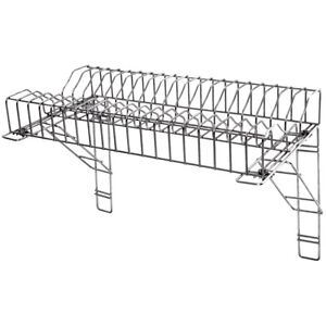 Image is loading Stainless-Steel-Catering-Plate-Rack-&-2-Wall-  sc 1 st  eBay & Stainless Steel Catering Plate Rack \u0026 2 Wall Brackets 90cm/36 ...