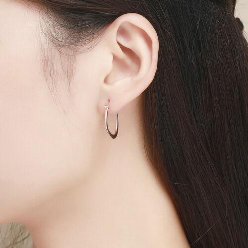 Argent Sterling 925 18K or Rose Boucles D/'oreilles Charme pour beauté femmes Bracelet Chaîne