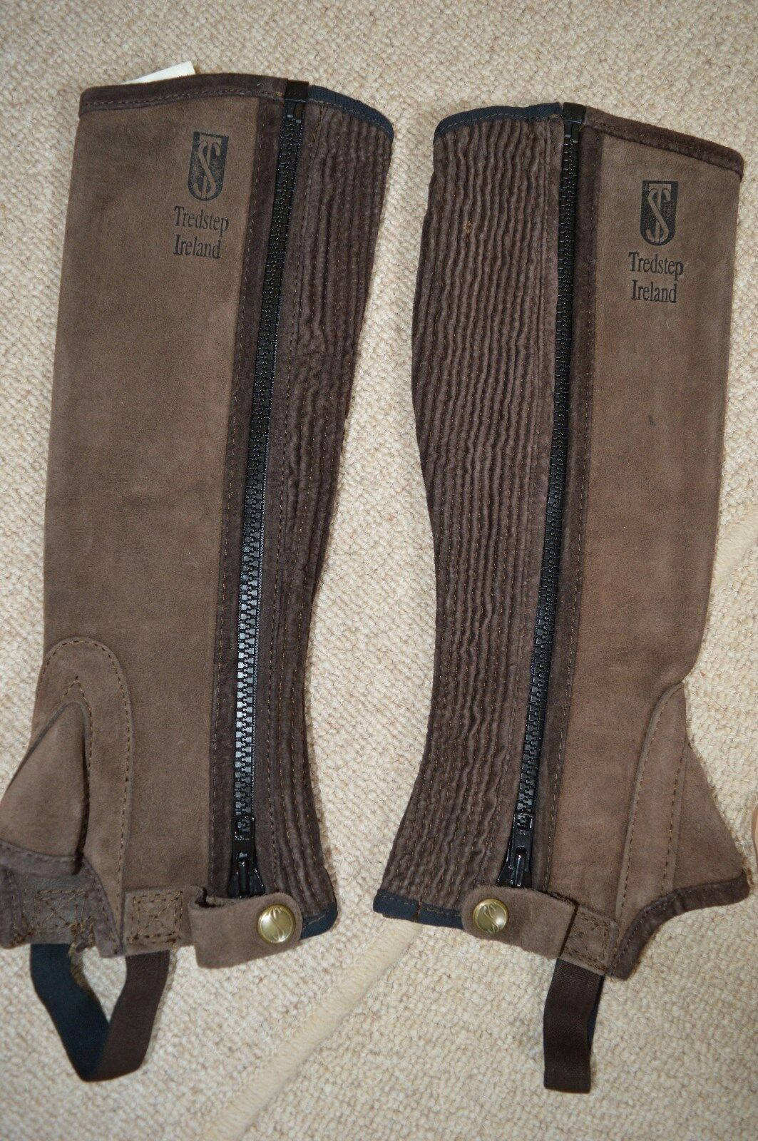 Half Chaps TROTstep Ireland Braun Suede 13/14 Top Quality