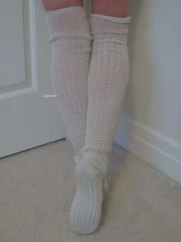 Crochet Cable Knit Rib Over The Knee Socks Womens OTK Long School Loose Slouch