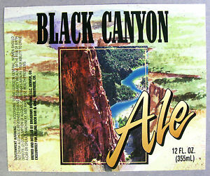 Broadway-Brewing-for-Falling-Rock-Bar-amp-Grill-BLACK-CANYON-ALE-beer-label-CO