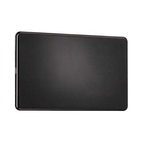 2 Gang Blank Plate Screwless Flat plate SPECIAL OFFER