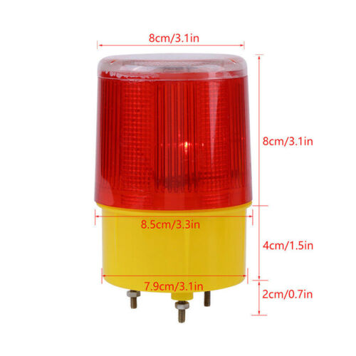 Solar LED Flash Traffic Red Light Emergency Warning Strobe Beacon Alarm YEDE