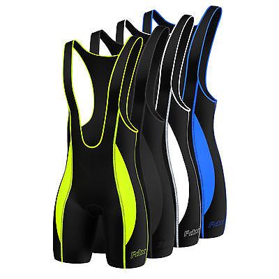 FDX Mens Quality Cycling Bib Shorts  Coolmax® Padding  Cycle Tight Shorts